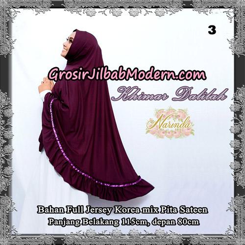 Jilbab Jumbo Khimar Dalilah Original By Narinda Hijab No 3 Ungu Anggur