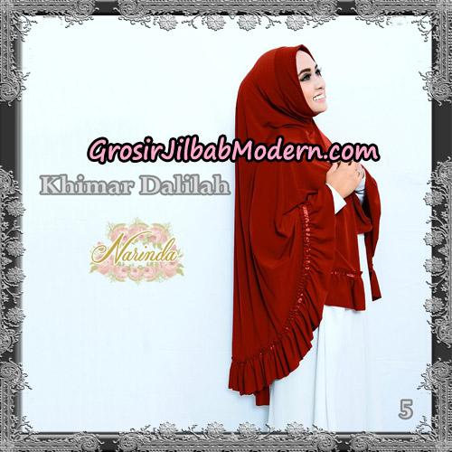 Jilbab Jumbo Khimar Dalilah Original By Narinda Hijab No 5 Marun