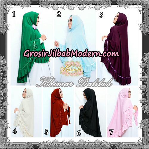 Jilbab Jumbo Khimar Dalilah Original By Narinda Hijab