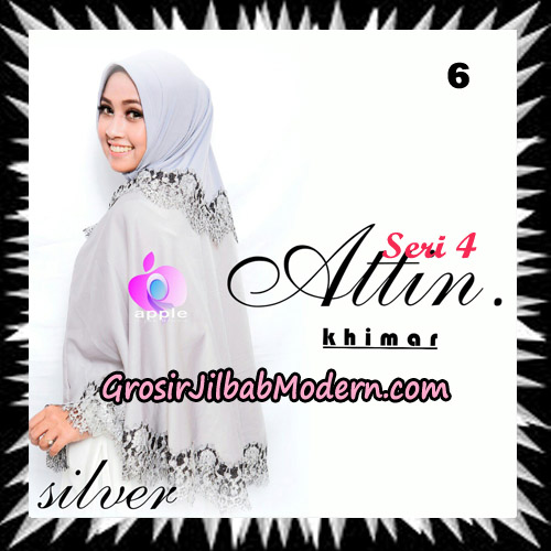 Jilbab Khimar Attin Seri 4 Original By Apple Hijab Brand No 6 Silver