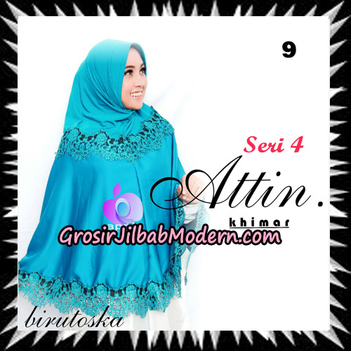 Jilbab Khimar Attin Seri 4 Original By Apple Hijab Brand No 9 Birutoska