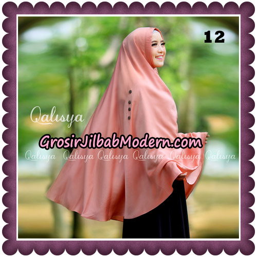 Jilbab Khimar Ziya Original By Qalisya Hijab Brand No 12