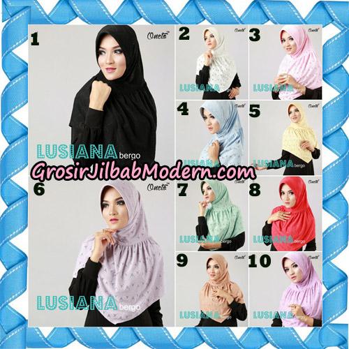 Jilbab Lusiana Bergo Original By Oneto Hijab Brand