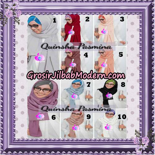 Jilbab Quinsha Pasmina Cantik By Apple Hijab Brand