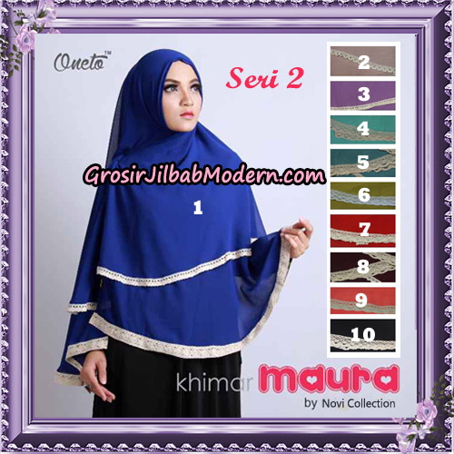 Khimar Maura Seri 2 Original Novi Collection Support By Oneto Hijab