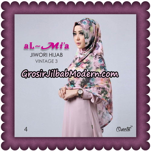 Jilbab Jiwori Hijab Vintage Seri 3 Original By Almia Brand No 4