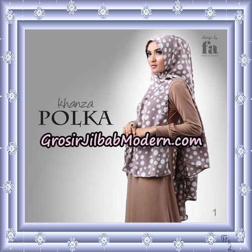 Jilbab Khimar Khanza Polka By Fa Hijab Support Oneto Hijab No 1