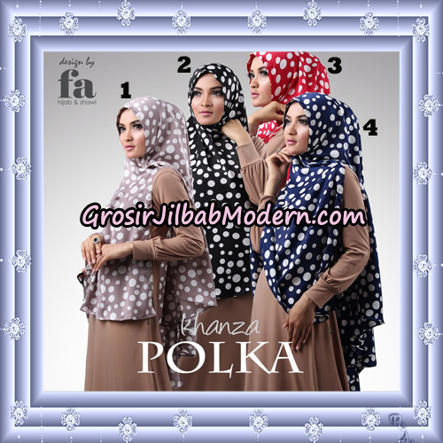 Jilbab Khimar Khanza Polka By Fa Hijab Support Oneto Hijab