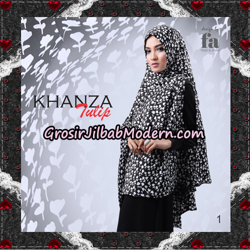 Jilbab Khimar Khanza Tulip By Fa Hijab Support Oneto Hijab No 1