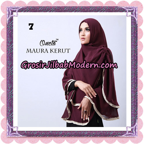 Jilbab Khimar Maura Kerut Oneto Support By Rizky Ananda No 7