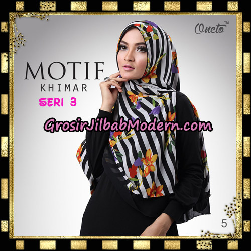 Jilbab Khimar Motif Non Pet Seri 3 Support By Oneto Hijab No 5