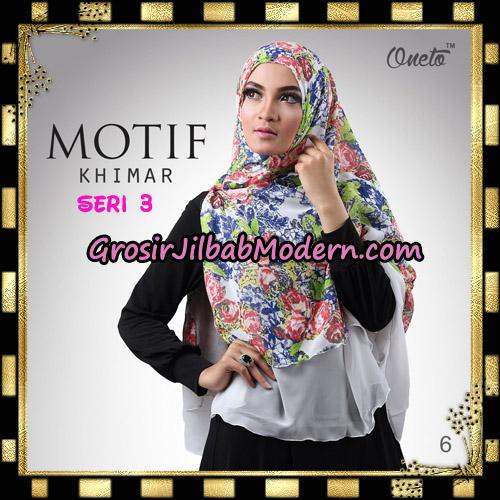 Jilbab Khimar Motif Non Pet Seri 3 Support By Oneto Hijab No 6