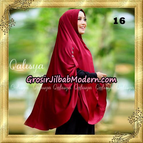 Jilbab Khimar Syari Ziya Seri 2 Original By Qalisya Hijab Brand No 16