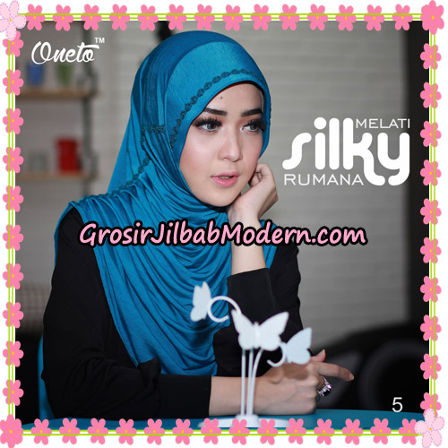 Jilbab Rumana Silky Melati Original By Oneto Hijab Brand No 5