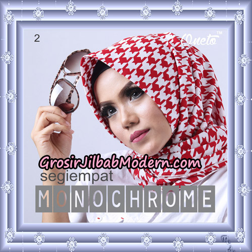Jilbab Segi 4 Monochrome Original Firza Hijab Support Oneto Hijab No 2