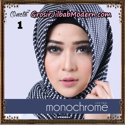 Jilbab Segi 4 Monochrome Tombak Original Firza Hijab Support Oneto Hijab No 1