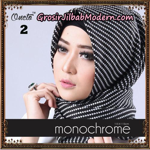 Jilbab Segi 4 Monochrome Tombak Original Firza Hijab Support Oneto Hijab No 2