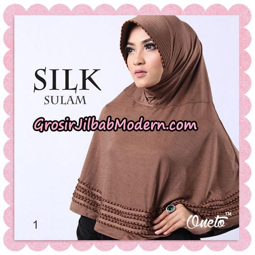 Jilbab Silk Sulam Original By Oneto Hijab Brand No 1