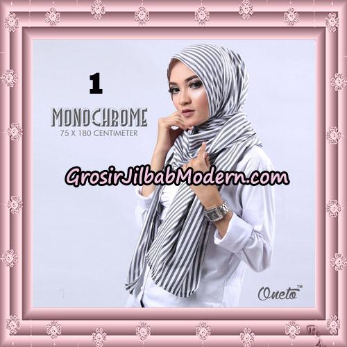 Pashmina Monochrome H&S By Umama Scarf Support Oneto Hijab No 1