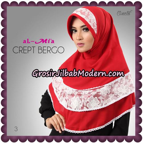 Jilbab Crept Bergo Cantik Original By Almia Brand No 3
