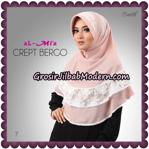 Jilbab Crept Bergo Cantik Original By Almia Brand No 7