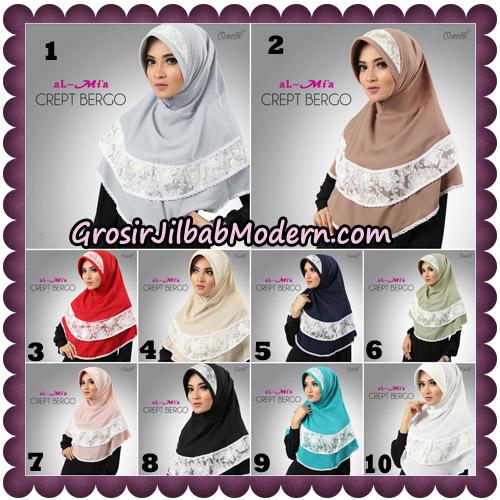 Jilbab Crept Bergo Cantik Original By Almia Brand