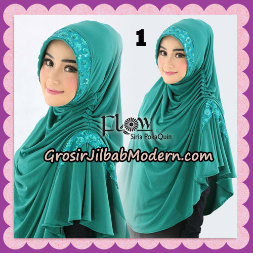 Jilbab Instant Cantik Syria Pet PolkaQuin Original By Flow Idea No 1