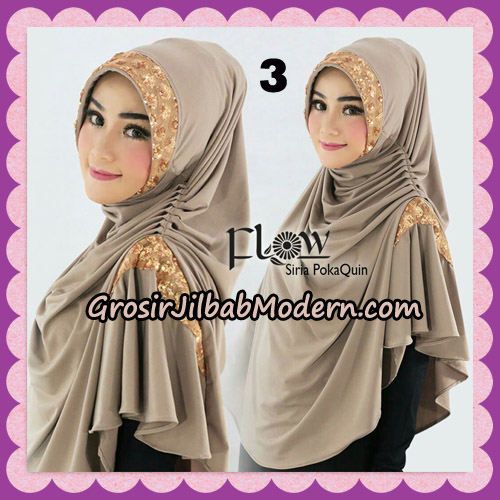 Jilbab Instant Cantik Syria Pet PolkaQuin Original By Flow Idea No 3