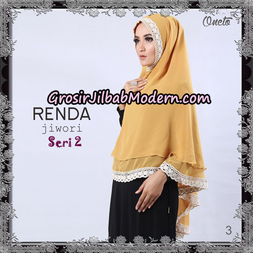 Jilbab Khimar Cerutti Jiwori Renda Seri 2 Original By Dhea Brand No 3
