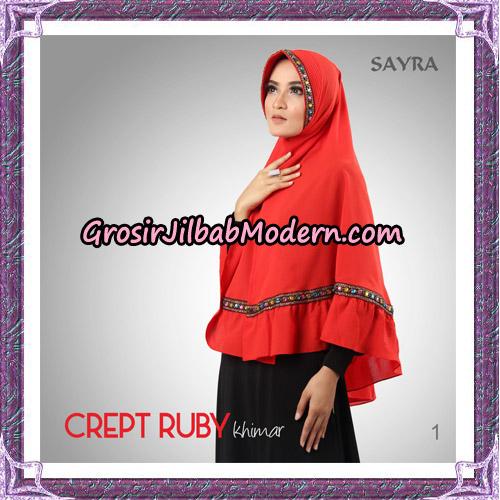 Jilbab Khimar Crept Ruby Cantik Original By Sayra Hijab Brand No 1