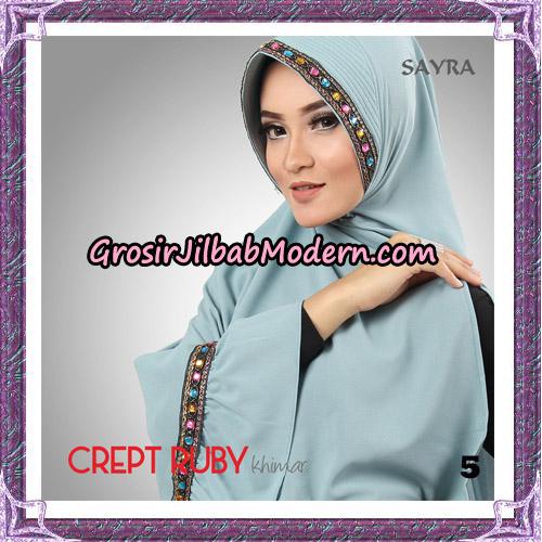 Jilbab Khimar Crept Ruby Cantik Original By Sayra Hijab Brand No 5