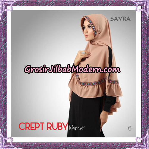 Jilbab Khimar Crept Ruby Cantik Original By Sayra Hijab Brand No 6