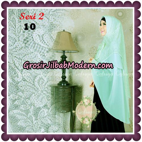 Jilbab Khimar Syari Sabqa Brukat Seri 2 Original By Qalisya Hijab Brand No 10 Mint