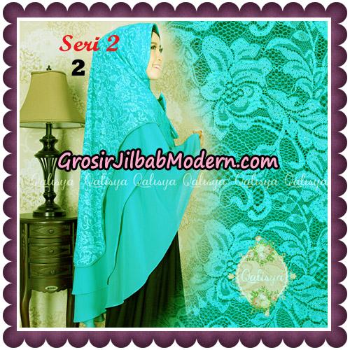 Jilbab Khimar Syari Sabqa Brukat Seri 2 Original By Qalisya Hijab Brand No 2 Tosca
