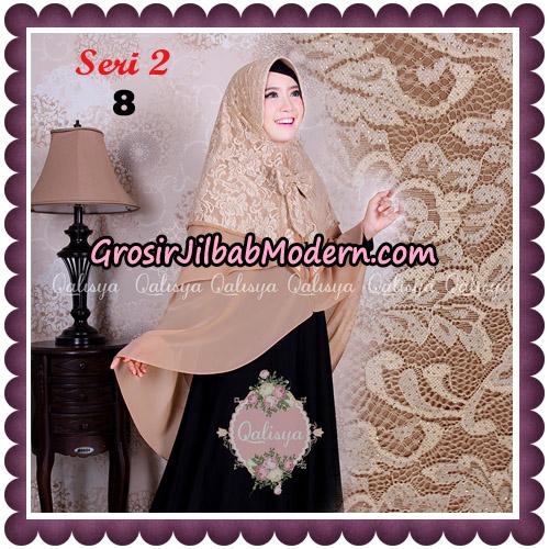 Jilbab Khimar Syari Sabqa Brukat Seri 2 Original By Qalisya Hijab Brand No 8 Coksu