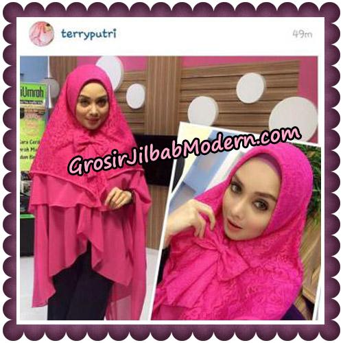Jilbab Khimar Syari Sabqa Brukat Seri 2 Original By Qalisya Hijab Brand - Terry Putri