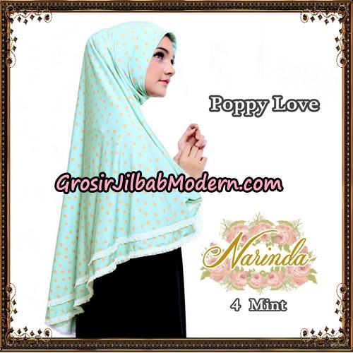 Jilbab Long Syria Poppy Love Original By Narinda Hijab No 4