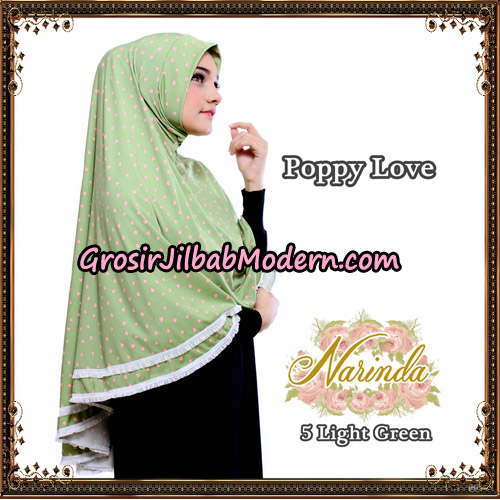 Jilbab Long Syria Poppy Love Original By Narinda Hijab No 5