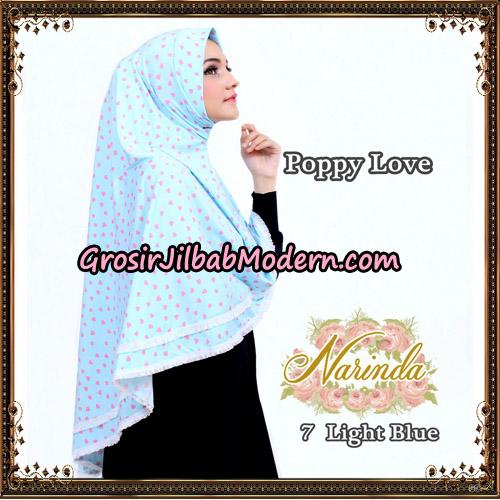 Jilbab Long Syria Poppy Love Original By Narinda Hijab No 7