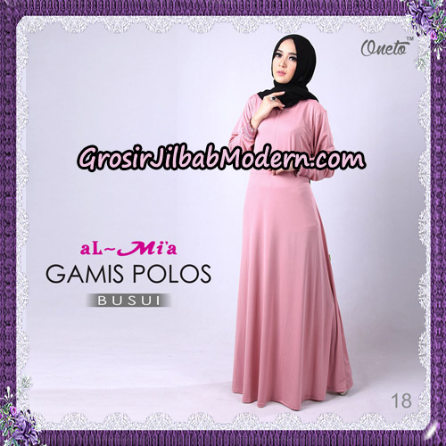 Gamis Polos Busui Cantik Original By Almia Brand No 18