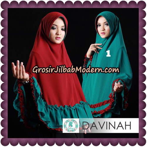 Jilbab Ceruti Bolak Balik Dua Warna Khimar Davinah Original By Qalisya Hijab No 1