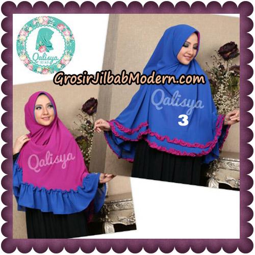 Jilbab Ceruti Bolak Balik Dua Warna Khimar Davinah Original By Qalisya Hijab No 3