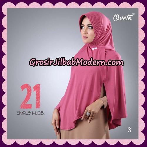 Jilbab Instant Bergo Simple Hijab Seri 21 By Firza Hijab Support Oneto No 3