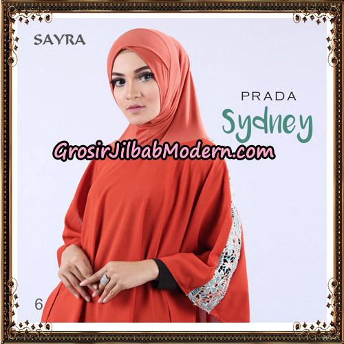 Jilbab Instant Prada Sydney Original By Sayra Hijab Brand No 6