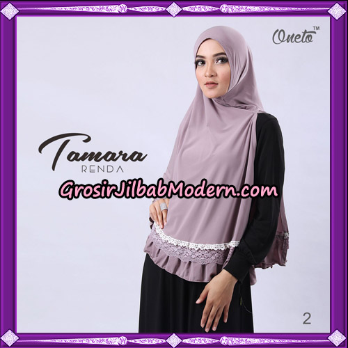 Jilbab Khimar Syari Tamara Renda Support Oneto Hijab No 2