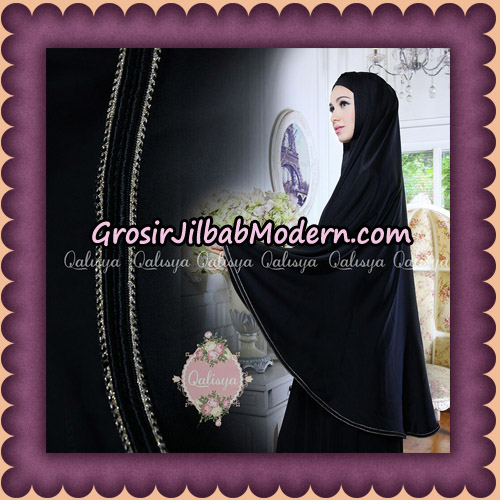 Jilbab Khimar Umroh Exclusive Original by Qalisya Hijab Brand - Hitam