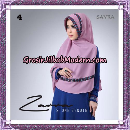 Jilbab Khimar Zarra 2Tone Sequin Original By Sayra Hijab Brand NO 4