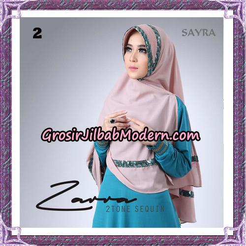 Jilbab Khimar Zarra 2Tone Sequin Original By Sayra Hijab Brand No 2