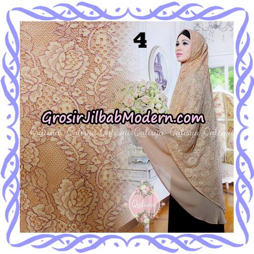 Jilbab Syari Modern Khimar Halwa Brukat Seri 4 Original by Qalisya Hijab Brand No 4