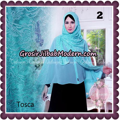 Jilbab Syari Modern Khimar Halwa Brukat Seri 5 Glitter Original by Qalisya Hijab Brand No 2